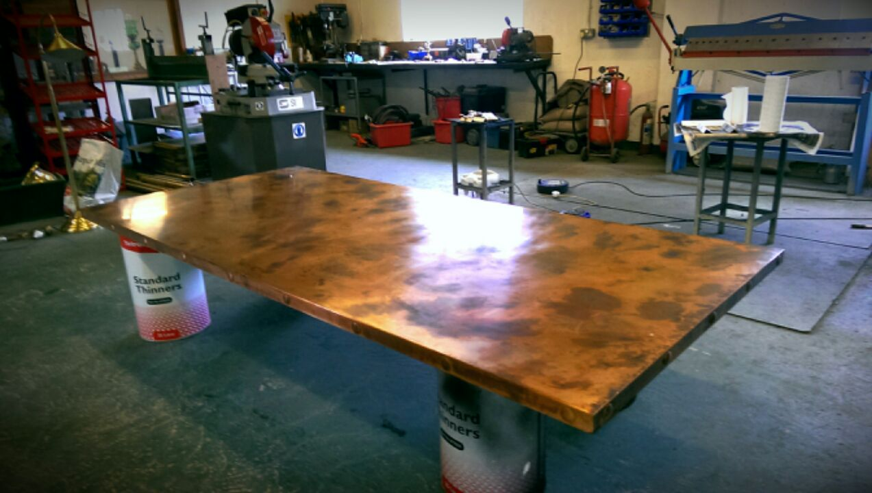 Patinated Copper Table Top